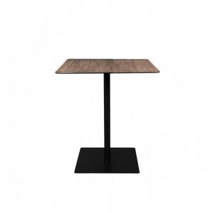 Masa bar patrata maro din otel si lemn 70x70 cm Braza Square Dutchbone