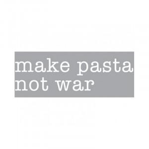 Decoratiune luminoasa alba din sticla Neon Art Make Pasta Not War Seletti