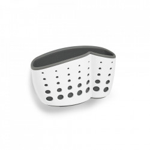 Suport bucatarie alb/gri din plastic pentru perete Sink Organizer Zeller
