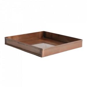 Tava patrata maro cupru din fier 26x26 cm Industrial Raw Materials