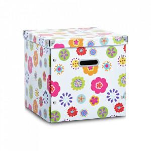 Cutie cu capac multicolora din carton Kids Square Zeller