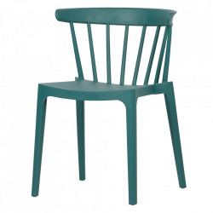 Scaun dining albastru din polipropilena pentru exterior Bliss Woood