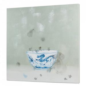 Tablou multicolor din lemn de pin 100x100 cm Blue Bowl Santiago Pons
