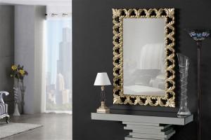 Oglinda dreptunghiulara bej sampanie din polirasina si sticla 76x114 cm Aria Giner y Colomer