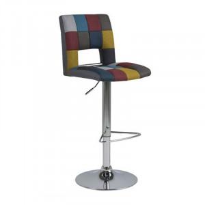 Scaun bar multicolor din metal si textil Sylvia Actona Company