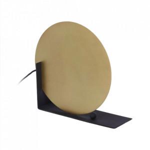 Veioza neagra/aurie din metal 31 cm Stahel La Forma