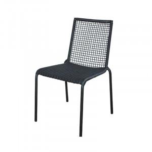 Scaun dining gri din aluminiu si rasina pentru exterior Palm Lifestyle Home Collection