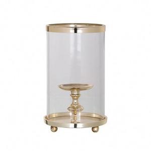 Suport auriu/transparent din aluminiu si sticla pentru lumanare 27 cm Havily Richmond Interiors