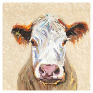Tablou multicolor din canvas si lemn 90x90 cm Angus Ter Halle