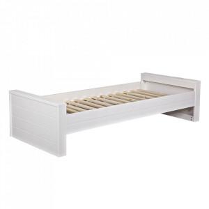 Cadru pat alb din lemn de pin 90x200 cm Robin Woood