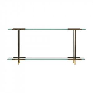 Raft auriu/transparent din alama si sticla 60 cm Pure House Doctor