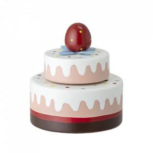 Cutie muzicala rotunda multicolora din MDF si lemn 7,5 cm Cake Bloomingville