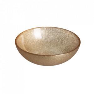 Bol auriu din sticla 14 cm Caffia Ixia