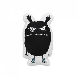 Perna decorativa alba/neagra din bumbac 28x45 cm Monster Bloomingville
