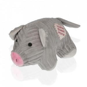 Opritor usa gri din textil Pig Versa Home