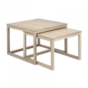 Set 2 masute maro din lemn pentru cafea Cornus Alle Actona Company