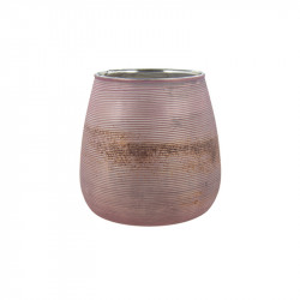 Suport roz din sticla pentru lumanare 10 cm Mori Lifestyle Home Collection
