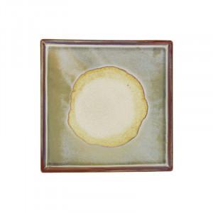 Tava patrata maro deschis din ceramica 31x31 cm Linn LifeStyle Home Collection