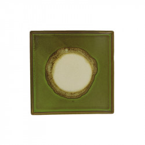 Tava patrata verde din ceramica 31x31 cm Linn LifeStyle Home Collection