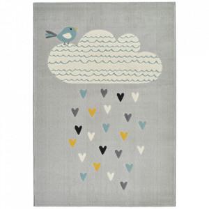 Covor gri/multicolor din polipropilena 120x170 cm Vini Lovely Rainfall Zala Living