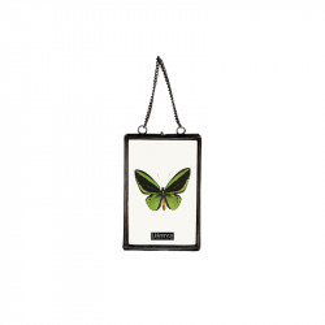 Rama foto neagra/transparenta din metal si sticla pentru perete 11x15 cm Timo LifeStyle Home Collection