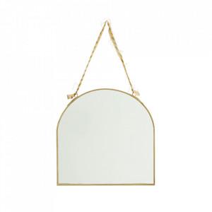 Oglinda ovala aurie din fier si sticla 23x23 cm Eva Madam Stoltz