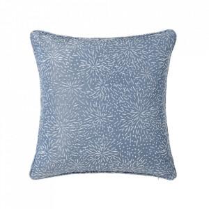Perna decorativa patrata albastra din poliester 45x45 cm Loving Unimasa