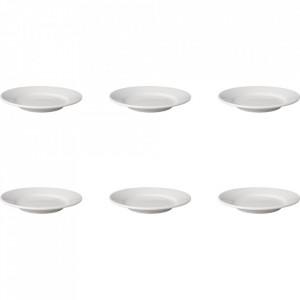 Set 6 farfurii intinse albe din portelan 18 cm Budge Mammoet