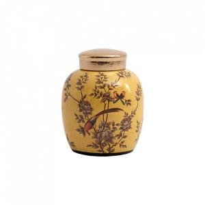 Recipient cu capac multicolor din ceramica 25x32 cm Holly Vical Home