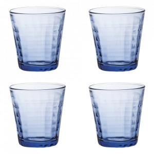 Set 4 pahare albastre din sticla 275 ml Prisme Duralex
