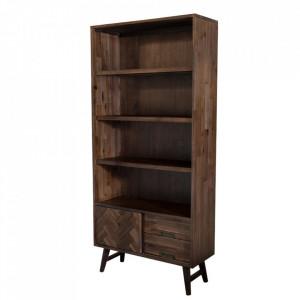 Biblioteca maro din lemn de salcam 195 cm Ashton Livin Hill