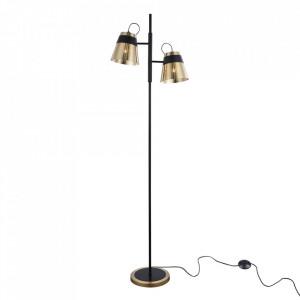 Lampadar negru/auriu din metal cu 2 becuri 162 cm Trento Maytoni
