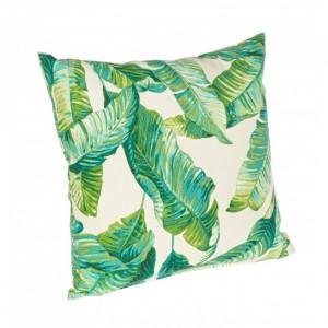 Perna decorativa patrata verde din poliester 43x43 cm Rihanna Azzorre Bizzotto
