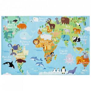 Covor multicolor din poliester My Torino Map Obsession (diverse dimensiuni)