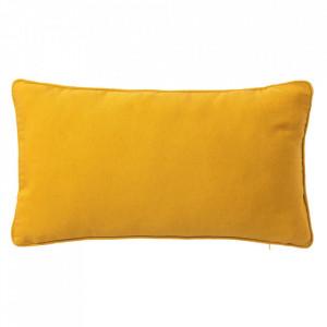Perna decorativa dreptunghiulara galbena din poliester si bumbac 30x50 cm Loving Colours Unimasa