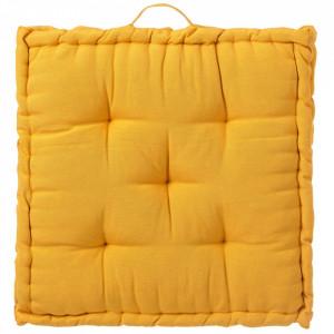 Perna patrata galbena din poliester si bumbac pentru sezut 60x60 cm Loving Colours Unimasa