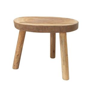 Masuta maro din lemn pentru cafea 65 cm Nature HK Living
