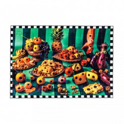 Covor multicolor din poliester si bumbac 280x194 cm Food with Holes Toiletpaper Seletti