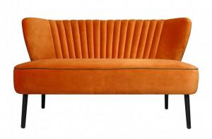 Canapea portocalie din catifea pentru 2 persoane Twiggy Versmissen