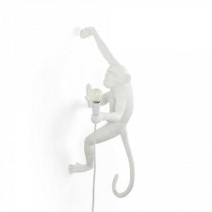 Aplica alba din rasina The Monkey Right Outdoor Version Seletti