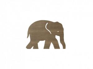 Decoratiune luminoasa maro din lemn 26x35,4 cm pentru perete Elephant Smoked Oak Ferm Living