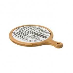 Platou rotund pentru branzeturi din lemn de bambus 23x31 cm Round Marcie Unimasa