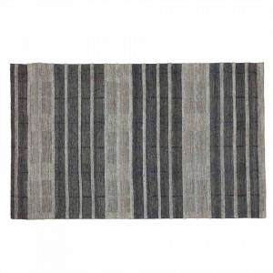 Covor gri din lana si viscoza 160x230 cm Feni Zago