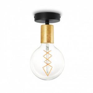 Plafoniera aurie/neagra din otel Cero Basic Bulb Attack