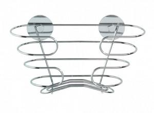 Raft pentru recipiente argintiu din inox Turbo-Loc Shampoo Wenko