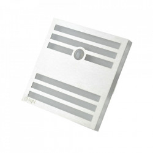 Aplica argintie/alba din aluminiu si plastic Owen L Milagro Lighting