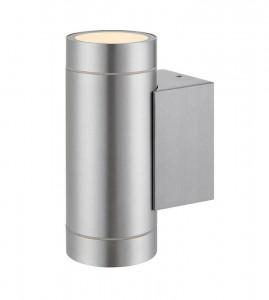 Aplica argintie din aluminiu si sticla cu 2 becuri pentru exterior Pipe Markslojd