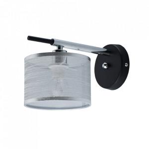 Aplica argintie/neagra din textil si metal Conrad MW Glasberg