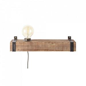 Aplica maro/neagra antichizata din metal si lemn Woodhill Brilliant