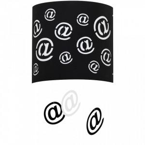 Aplica neagra/alba din metal si plastic Mail Wall Black Aldex